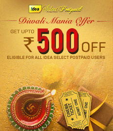 Idea Select Postpaid Diwali Mania Offer - BookMyShow