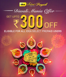 Idea Select Prepaid Diwali Mania Offer - BookMyShow