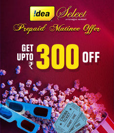 Idea Select Prepaid Matinee Offer - BookMyShow