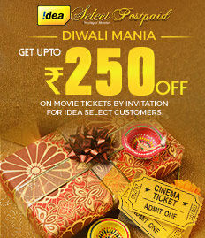Idea Select Diwali Mania movie ticket offer on BookMyShow
