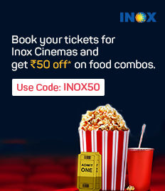 Rs.50 off on F&B booked for movies at INOX
