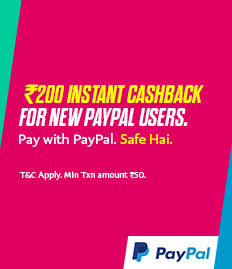 Paypal Booking - Rs.300 Cashback On Movie Ticket Booking on- BookMyShow