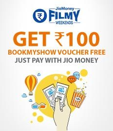 Jiomoney cashback offer on movie tickets - bookmyshow