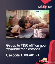 Upto Rs.150 off on F&B booked with Love Aaj Kal 2