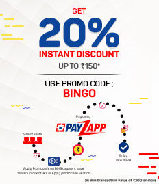 Payzapp - 20% Instant Discount Offer - BookMyShow