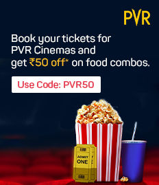 Rs.50 off on F&B booked for movies at PVR