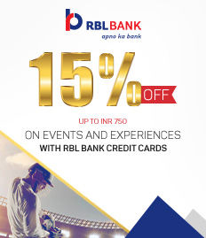 RBL Bank Events and Experiences Offer - BookMyShow