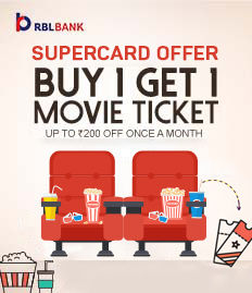 RBL Bank SuperCard offer - BookMyShow