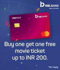 RBL BANK YOUNIQUE CREDIT CARD OFFER - BookMyShow