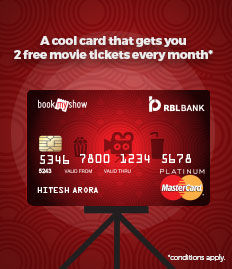 RBL Bank Credit Card Movie Ticket offer - BookMyShow
