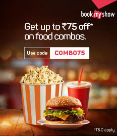 Discount Rs.75 on food combos for movies Kesari, Kalank & Avengers Endgame