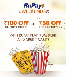 RuPay Weekend Debit/Credit Card Offer - BookMyShow