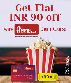 south indian bank debit card Rs. 100 Off offer - BookMyShow