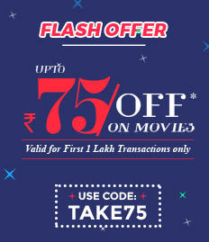 Offer Rs 75 Off on Movie Tickets at Bookmyshow