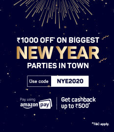 UPTO ₹1500 OFF* on all NYE Parties
