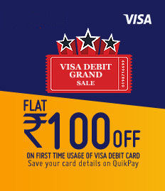 first time usage of VISA debit cards at BookMyShow