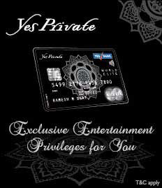 Yes Private Credit Card Offer - BookMyShow