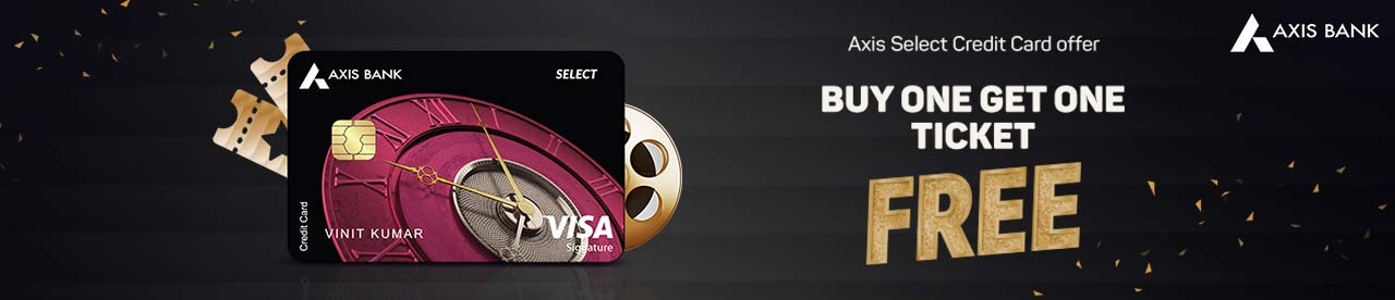 Axis Bank Select Credit card offer Online Movie Ticket Offer - BookMyShow