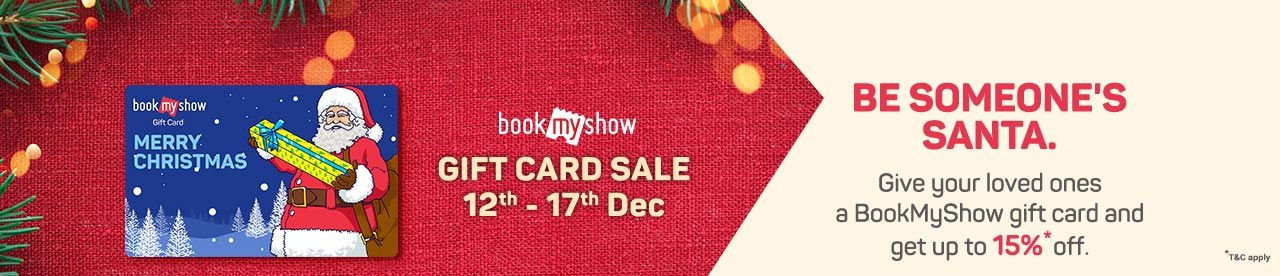 Up to 15% off on BookMyShow Gift Cards Online Movie Ticket Offer - BookMyShow