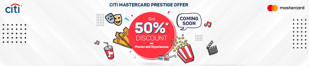 CitiBank Mastercard Offer Online Movie Ticket Offer - BookMyShow