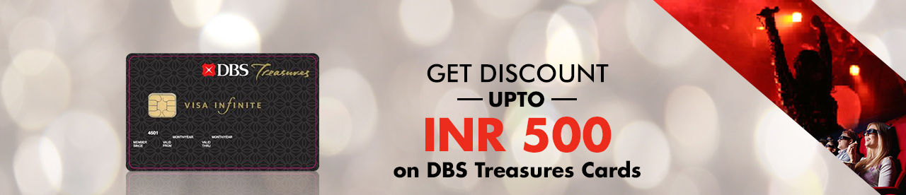 DBS Treasures Offer Online Movie Ticket Offer - BookMyShow