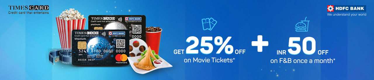 HDFC Bank Times Card Offer Online Movie Ticket Offer - BookMyShow