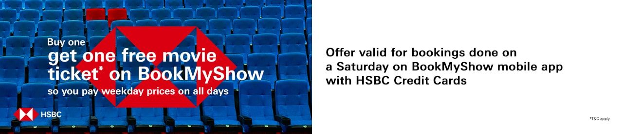 HSBC Credit Card Offer Online Movie Ticket Offer - BookMyShow
