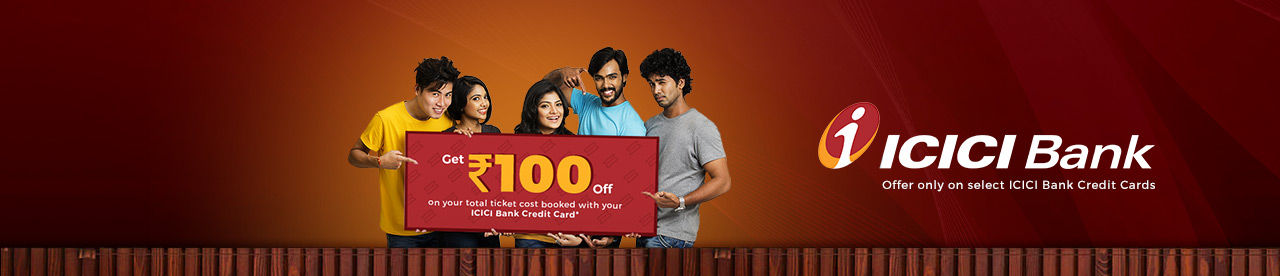 ICICI Bank INR 100 Off Online Movie Ticket Offer - BookMyShow