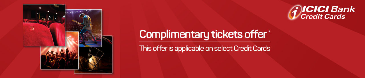 ICICI Bank Complimentary Tickets Offer Online Movie Ticket Offer - BookMyShow