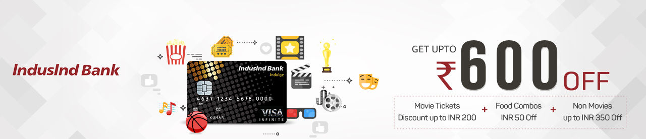 IndusInd Bank Indulge/Crest Credit Card Offer Online Movie Ticket Offer - BookMyShow