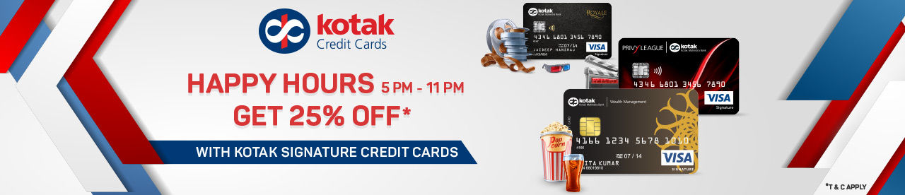 Kotak Bank Happy Hours Offer Online Movie Ticket Offer - BookMyShow