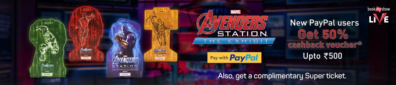 PayPal Avenger Station Offer Online Movie Ticket Offer - BookMyShow