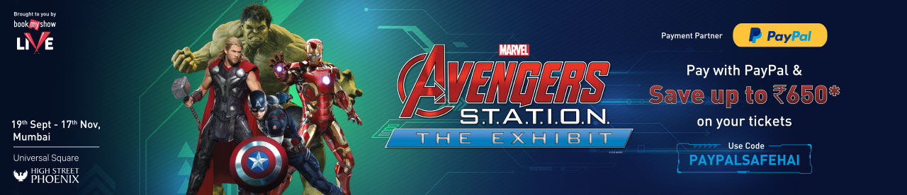 PayPal Avengers Station Offer Online Movie Ticket Offer - BookMyShow