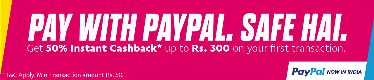 PayPal 50% instant cashback offer Online Movie Ticket Offer - BookMyShow