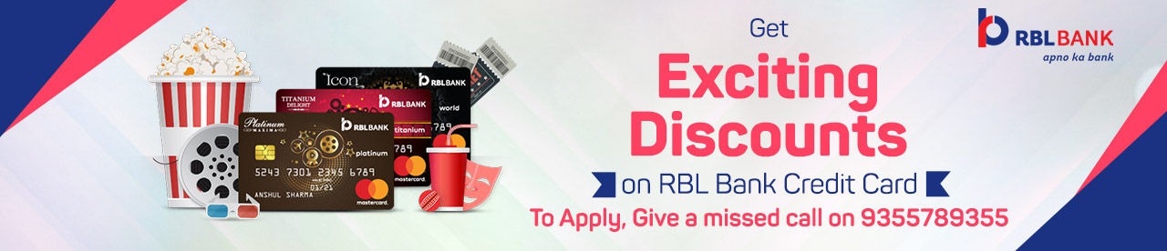 RBL Bank Credit Card Movie Offer Online Movie Ticket Offer - BookMyShow