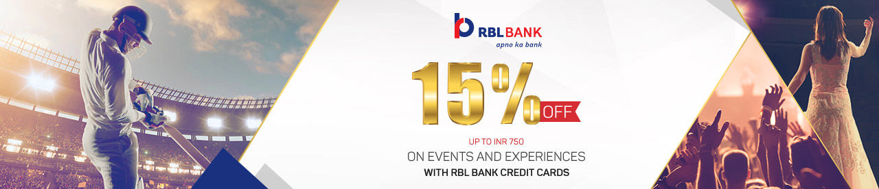 RBL Bank Credit Card Events and Experiences Offer Online Movie Ticket Offer - BookMyShow