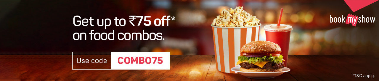 Discount Rs.75 on food combos for movies Kalank & Avengers Endgame Online Movie Ticket Offer - BookMyShow