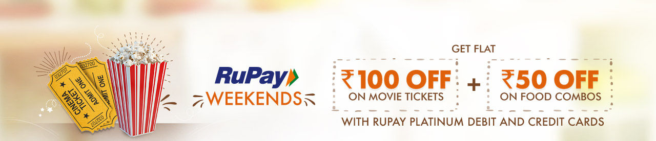 RuPay Weekends Offer Online Movie Ticket Offer - BookMyShow