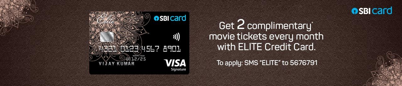 SBI Signature/Elite credit card offer Online Movie Ticket Offer - BookMyShow