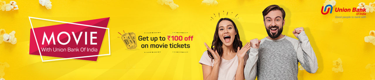 Union Bank Debit and Credit card offer Online Movie Ticket Offer - BookMyShow