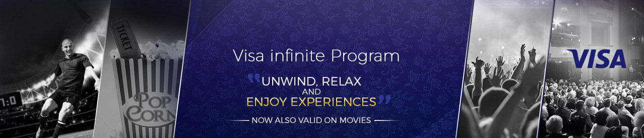 VISA INFINITE PROGRAM Online Movie Ticket Offer - BookMyShow