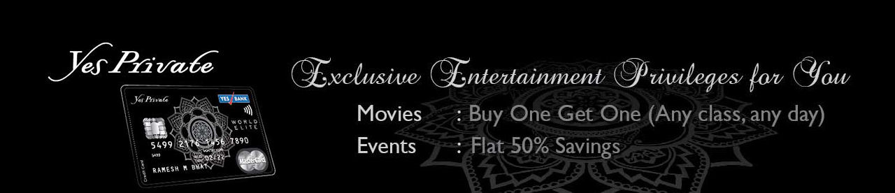 Yes Private Credit Card Offer Online Movie Ticket Offer - BookMyShow