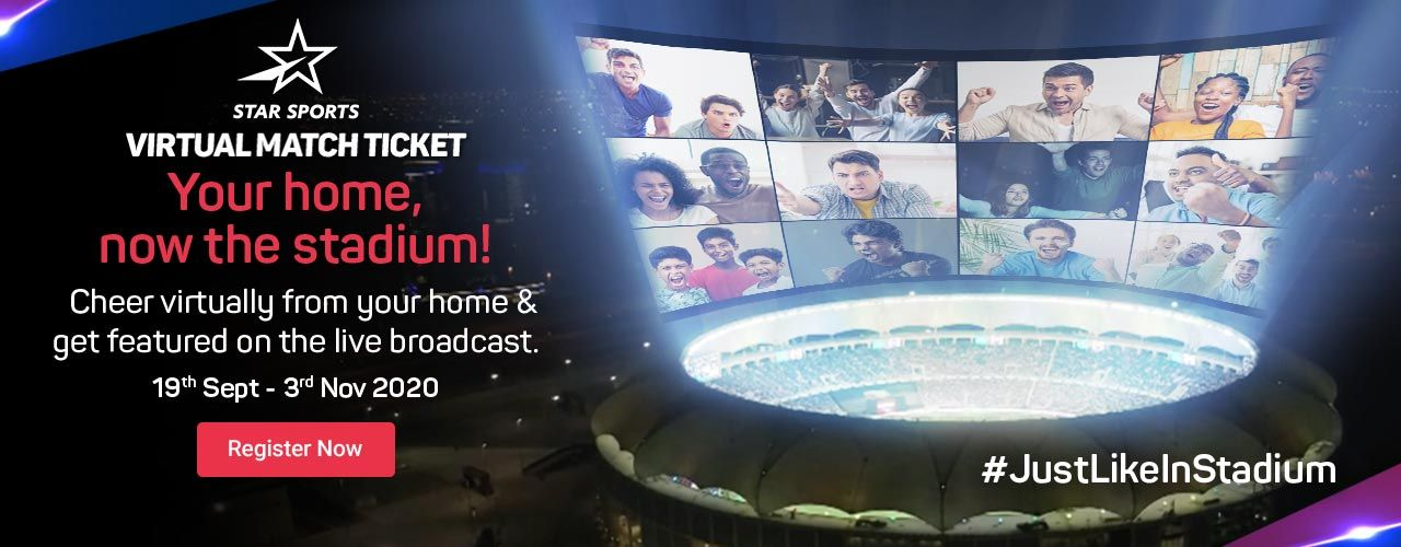 Star Sports Virtual Match Ticket