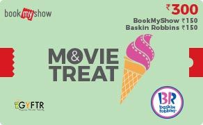 BMS and Baskin Robbins Combo Value Rs 300.00