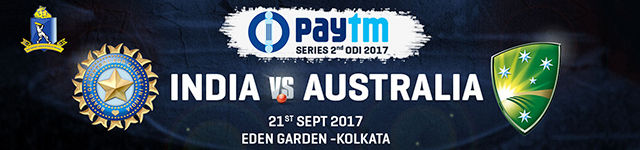 Paytm Series 2nd ODI India vs Australia Kolkata 2017 - BookMyShow