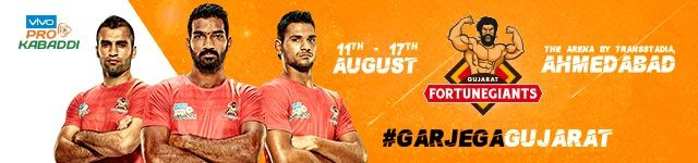 Vivo Pro Kabaddi 2017 – Gujarat Fortunegiants - BookMyShow